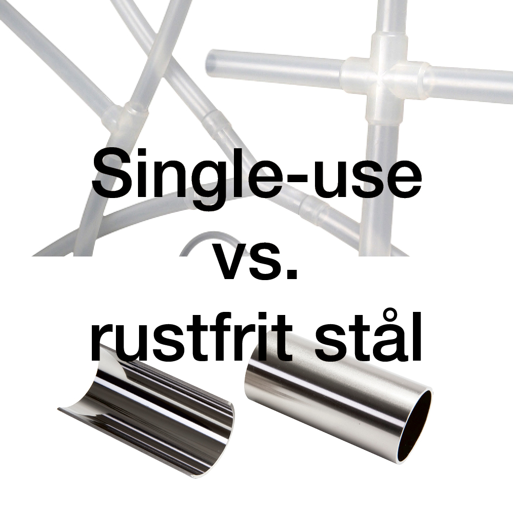 single-use vs. rustfrit stål